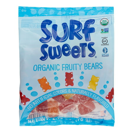 (4 Pack) Surf Sweets Organic Fruity Bears, 2.75 Ozs