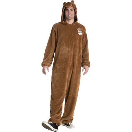 We Bare Bears Grizz One Piece Suit Adult Costume - Morphsuit Brown