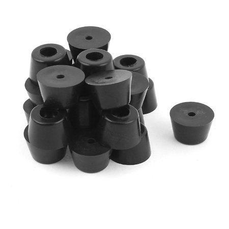 Metal Rubber Furniture Chair Table Leg Feet Cover Caps Floor Protector 25pcs