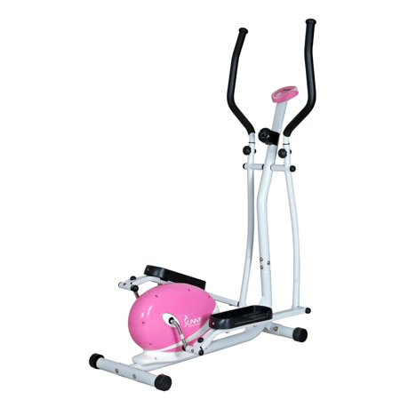 Sunny Pink Magnetic Elliptical Trainer
