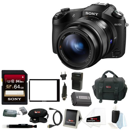 Sony Cyber-shot DSC-RX10 II Digital Camera with 64GB SD Card