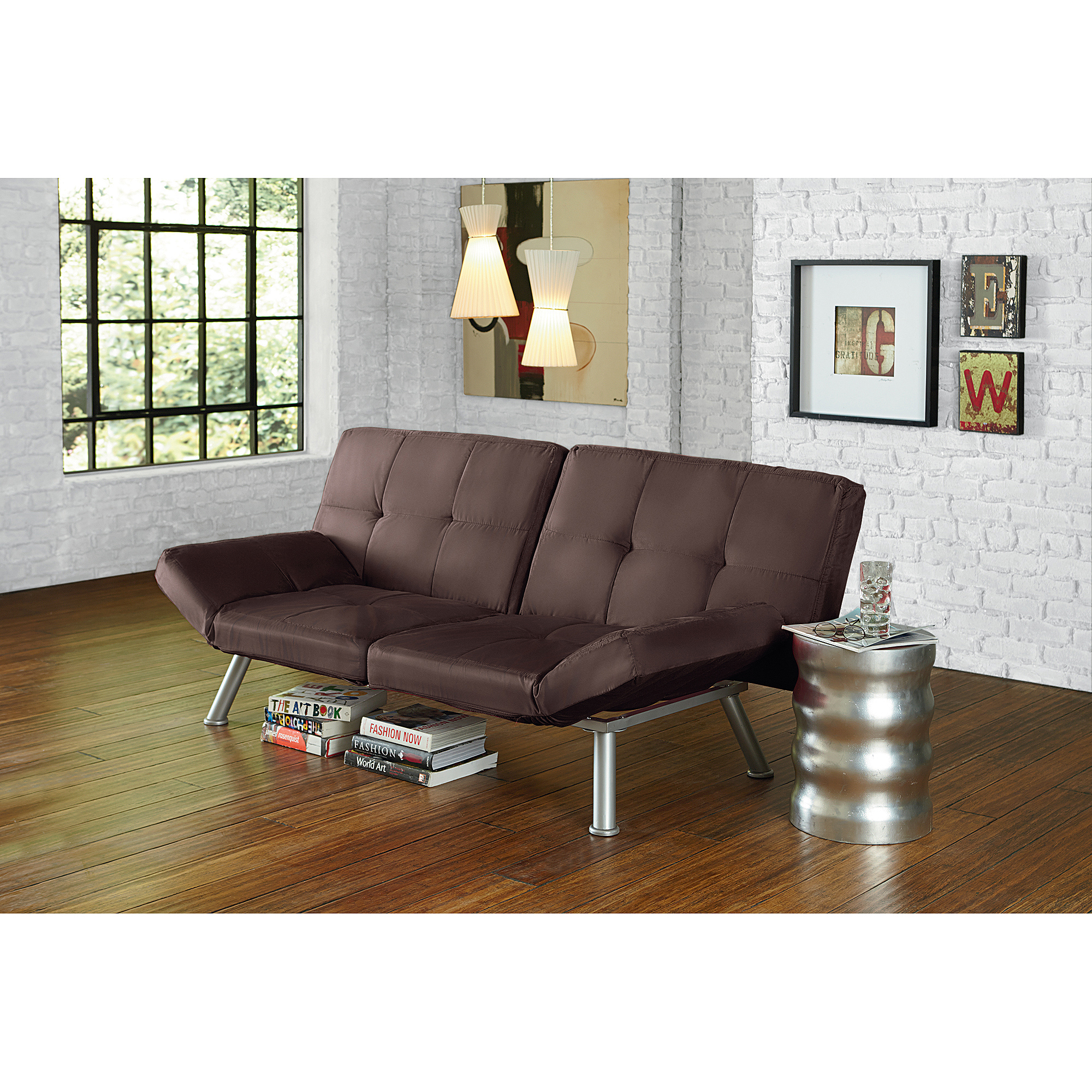 Mainstays Contempo Futon Sofa Bed, Multiple Colors