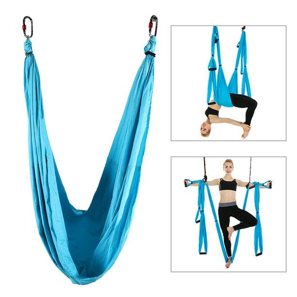 Ylshrf Fitness Yoga Hammock Anti Gravity Aerial Yoga Fitness Hanging Straps Flying Inversion Swing Sling Hammock Yoga Swing Sling Walmart Com Walmart Com