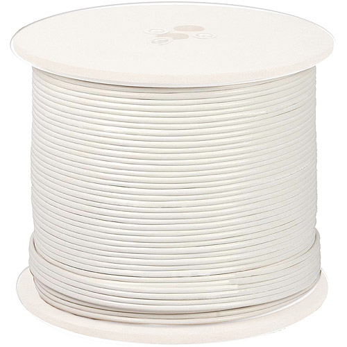 Night Owl CAB-RG59W-500VP 18AWG In-Wall Fire Rated Cable, White, 500'