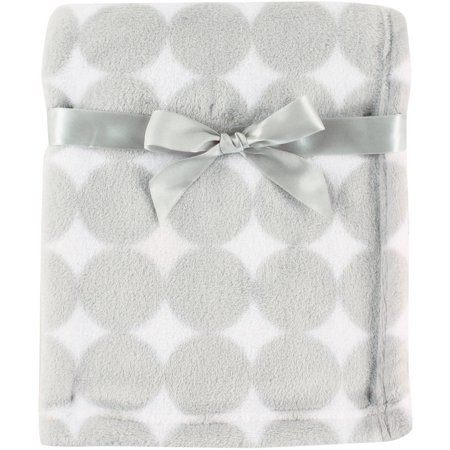 (Luvable Friends Baby Boy and Girl Coral Fleece Blanket - Gray Dot)