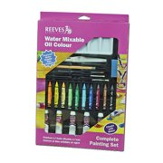 WINSOR & NEWTON / COLART 8210145 WATER MIXABLE OIL COLOUR COMPLETE PAINTING SET