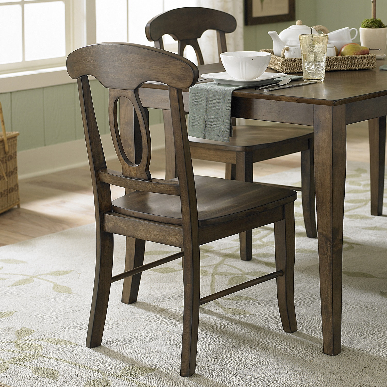 iNSPIRE Q Barnet Walnut Napoleon Casual Dining Chair (Set of 2) by  Classic