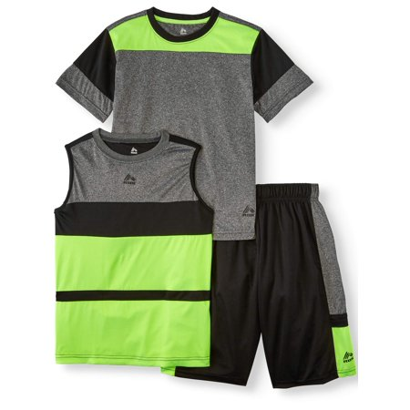 RBX Tee, Muscle Tank and Short 3 Piece Set (Little Boys & Big Boys)