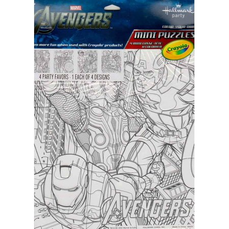 Avengers Color Your Own Mini Puzzles - Make Your Own Puzzles