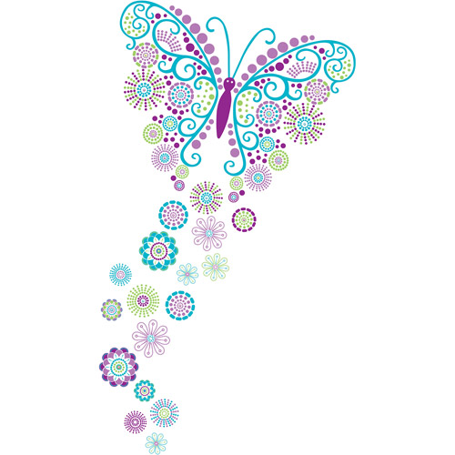 WallPops Social Butterfly Decals