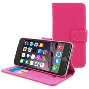 iPhone 6 Flip Case in Hot Pink Leather