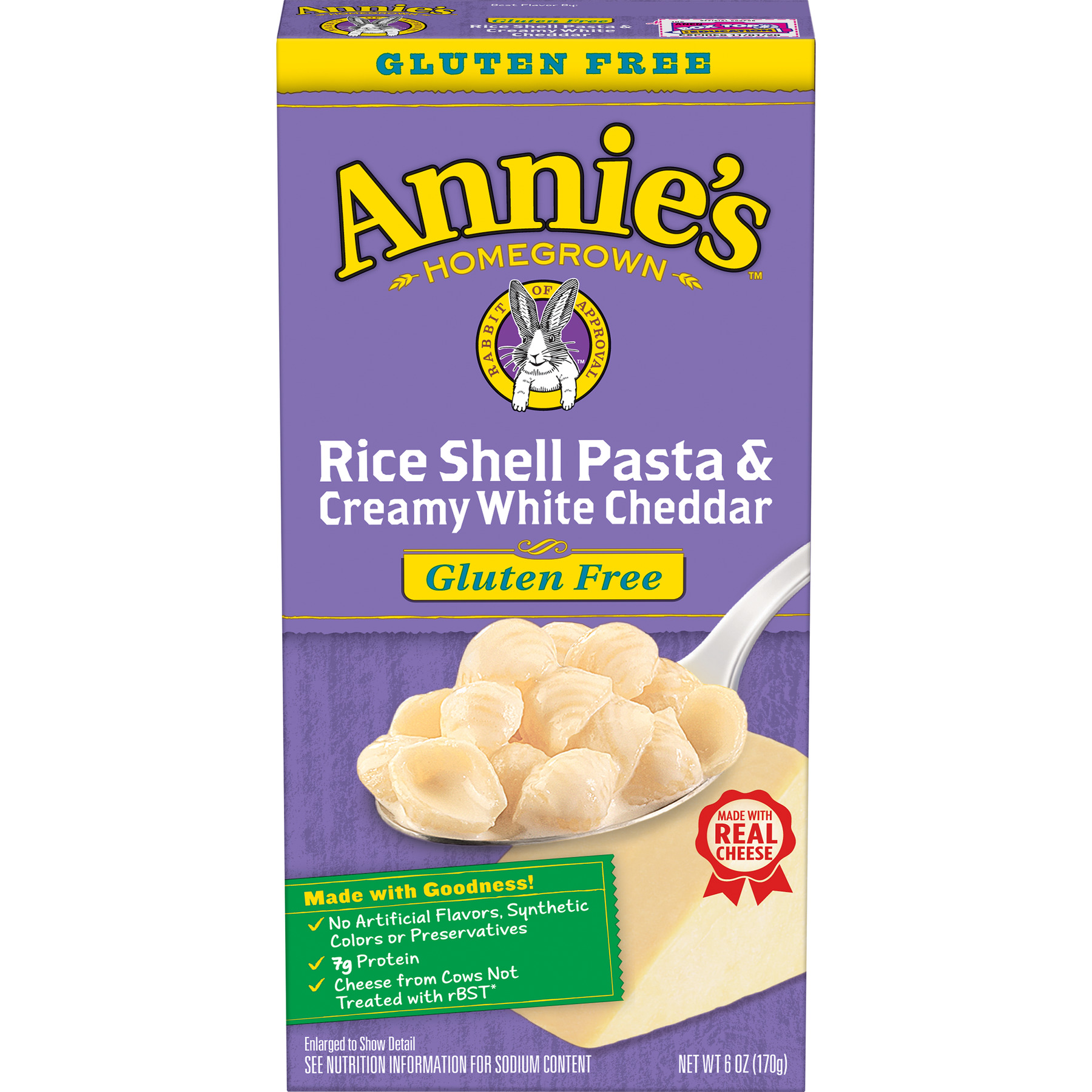 Annie's Rice Shells and Creamy White Cheddar Mac and Cheese, 6 oz