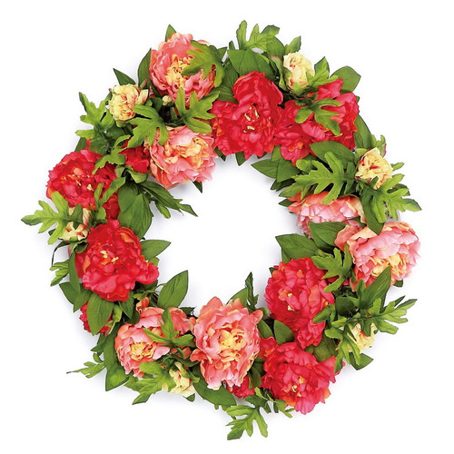 Ophelia & Co. Luxurious Peony Blossom 24'' Polysilk Wreath