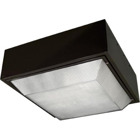Dabmar Lighting DW9240-BZ-MT 22.88 x 22.88 x 10 in. 400 watts Powder Coated Cast Aluminum Large Square Ceiling Fixture Light with Mogul Base Metal Halide Lamp,