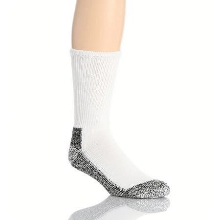 Wigwam Mills F1140-731-MD Work Socks, Double Cushioned, White & Black, Men's Medium