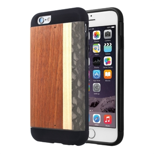 Man&wood iPhone 6S Protection Case Highway - iPhone 6, iPhone 6S - Black - Highway - Smooth - Wood, Thermoplastic