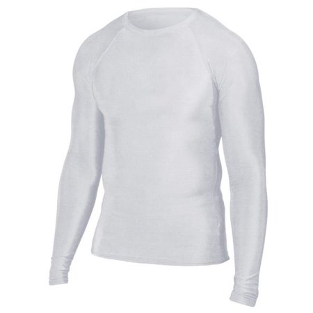 Tee shirt moulant Intensity N6831100XLG - manches longues pour homme, blanc - tr-s grand - image 1 de 1
