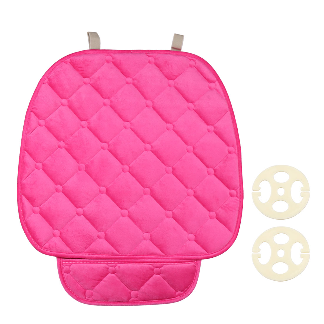 Pink Beige Universal Car Auto Seat Cover Warm Plush Cushion Pad Mat