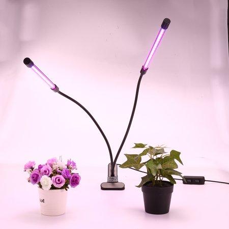 Egrow 18W Dual-lamp LED Plants Grow Light Dimmablec Adjustable Flexible 360 Degree Gooseneck Growing -