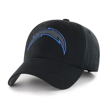 Nhl Fan - NFL Los Angeles Chargers Black Mass Basic Adjustable Cap/Hat by Fan Favorite