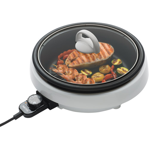 Aroma Super Pot Indoor Grill, White
