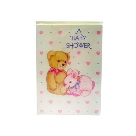 Carlton Cards Baby Shower Invitations Teddy Bear Bunny w/ Envelopes (Carlton Cards)