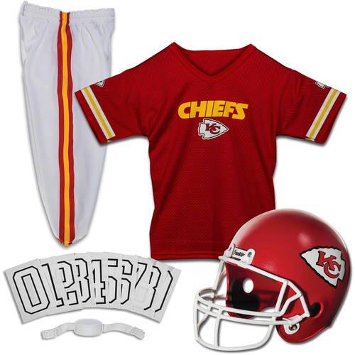 43caeccf68 Franklin Sports NFL Kansas City Chiefs Youth Licensed Deluxe Uniform Set,  Small - Walmart.com