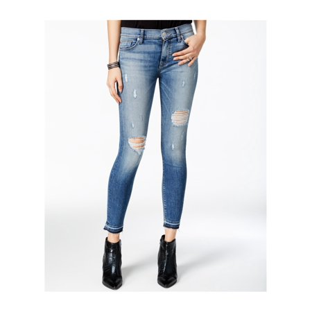 Hudson Womens Nico Ripped Decimate Skinny Fit Jeans (Hudson Jeans Sale Discount)