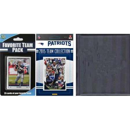 C&I Collectables NFL New England Patriots Licensed 2015 Score Team Set and Favorite Player Trading Card Pack Plus Storage Album