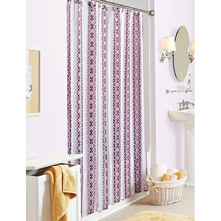 Better homes gardens atherton violets fabric shower Better homes and gardens shower curtains