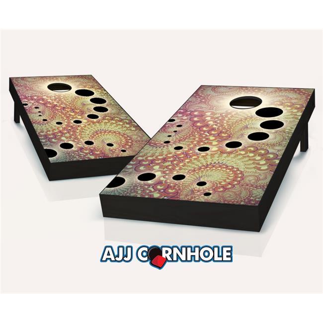 AJJCornhole 107-FractalShift Fractal Shift Theme Cornhole Set with bags - 8 x 24 x 48 in. - image 1 of 1