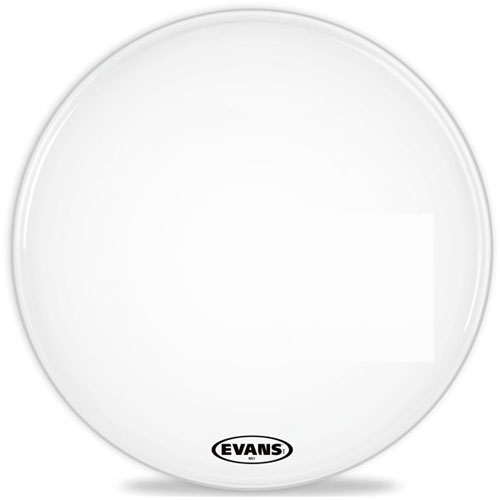 "20"" MS1 Marching Bass Drum Head White by Evans"