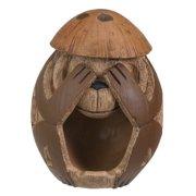 See No Evil Coconut Monkey - Collectible Figurine Statue Sculpture