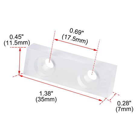 14pcs Rectangle Rubber Feet Non Slip Pad Anti-scratch Floor Protector 35x11.5mm - image 5 of 7