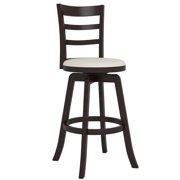 CorLiving DWG-499-B Woodgrove Three Bar Design Wooden Bar Stool, 43-Inch, Espresso and Cream Leatherette by CorLiving