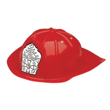 Fireman Hat Child Adjustable Dress Up Firefighter Red Helmet Costume Chief