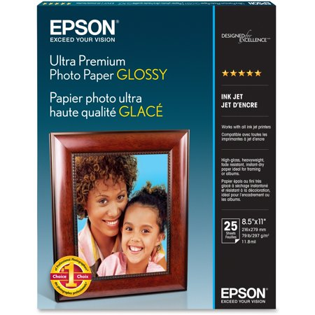 - Epson, EPSS042182, Ultra-premium Glossy Photo Paper, 25 / Pack, Bright White