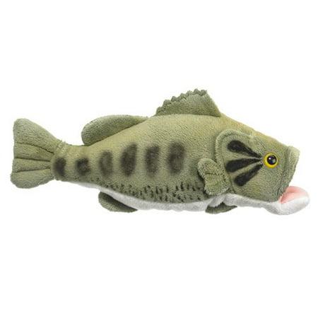 """10"""" Largemouth Bass Fish Plush Stuffed Animal Toy"""