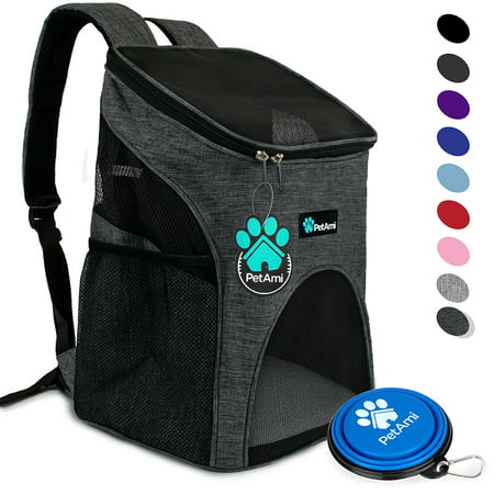 PetAmi Premium Pet Carrier Backpack for Small Cats and Dogs | Ventilated Design, Safety Strap, Buckle Support | Designed for Travel, Hiking & Outdoor