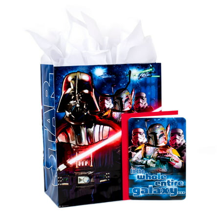 Hallmark, Star Wars Classic, Large Birthday Gift Bag with Card and Tissue Paper - Large Paper Bags