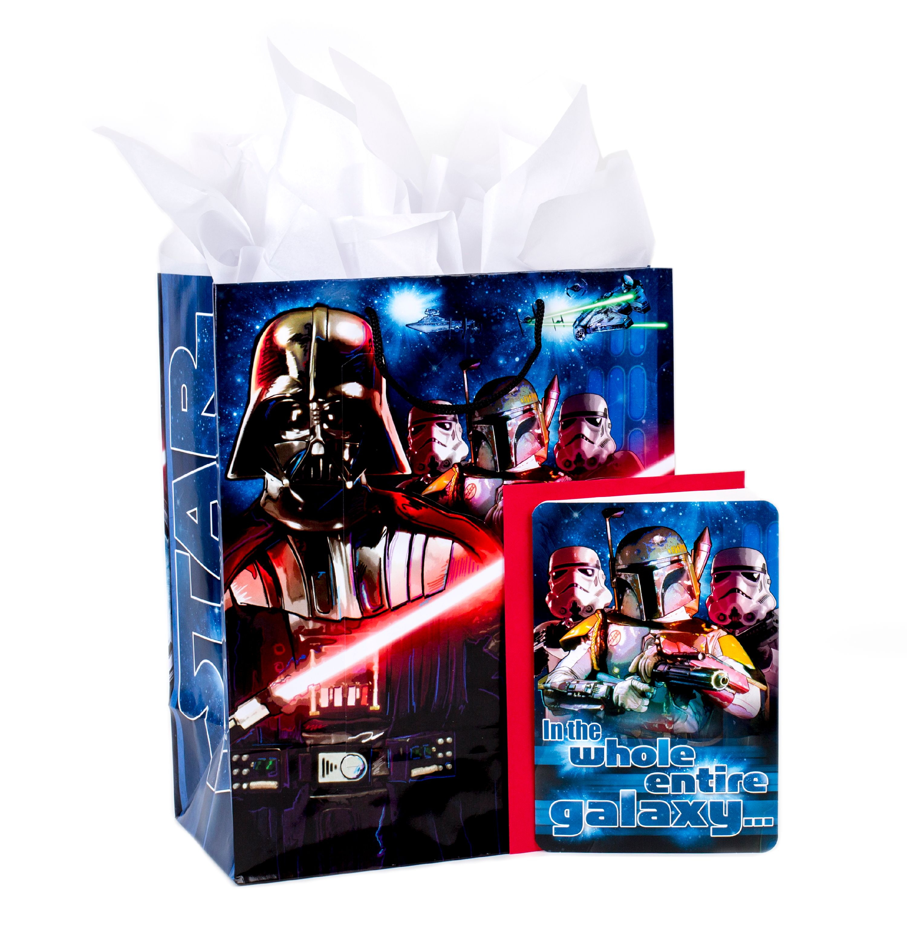 Hallmark, Star Wars Classic, Large Birthday Gift Bag with Card and Tissue Paper
