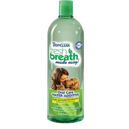 TropiClean Fresh Breath Fresh Breath Water Additive, 32 fl oz