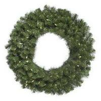 """Vickerman 60"""" Douglas Fir Wreath 900T 200 Warm White LED"""