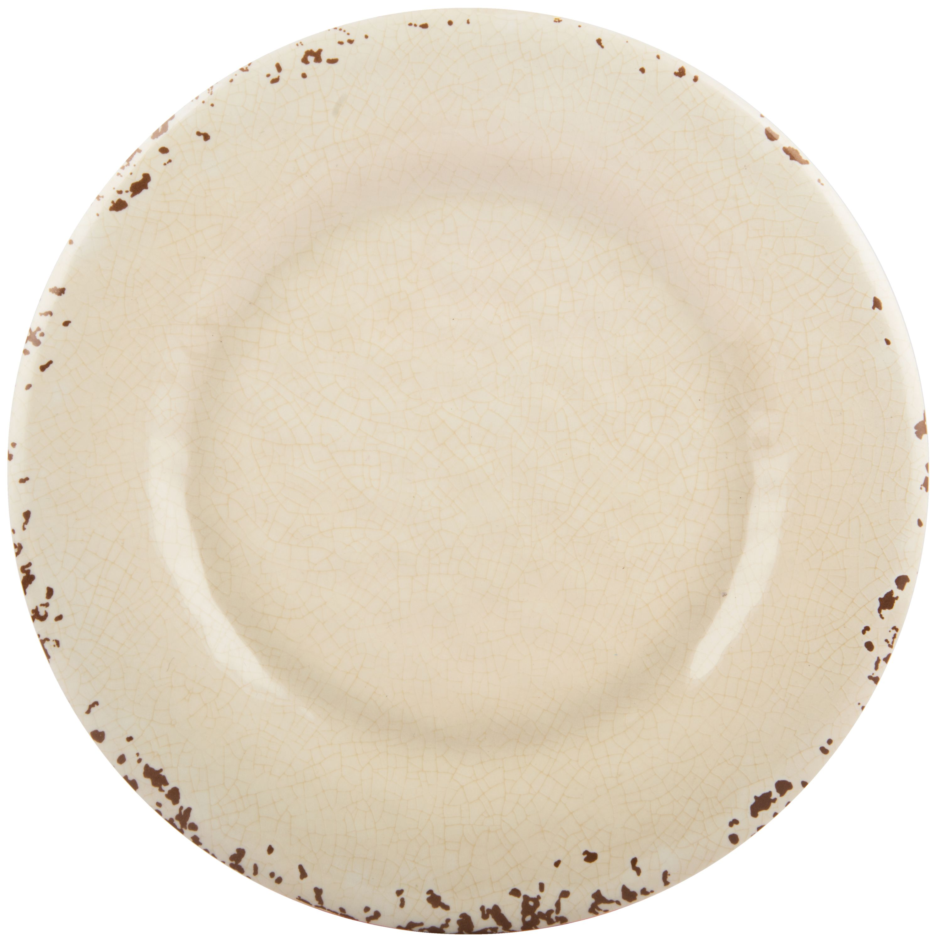 Melange 6 Piece Melamine Dinner Plate Set Rustic Collection White Walmart Com Walmart Com