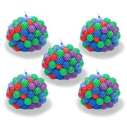 Upper Bounce® Crush Proof Plastic Trampoline Pit Balls 500 Pack - Assorted Colors