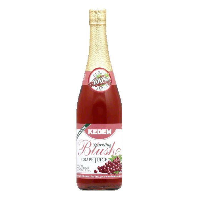 Kedem Blush Sparkling Grape Juice, 25.4 OZ (Pack of 12)