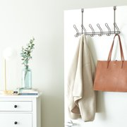 Mainstays Classico Over-The-Door Coat Rack with 6 Hooks, Bronze, Metal