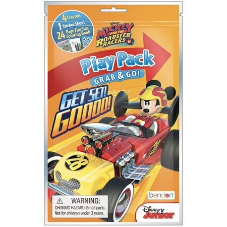 Party Favors - Mickey Mouse Roadster - Grab and Go Play Pack - - Play Pack Grab And Go