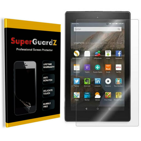 [3-Pack] For Amazon Kindle Fire HD 10 (2015) - SuperGuardZ Ultra Clear Screen Protector, Anti-Scratch, Anti-Bubble