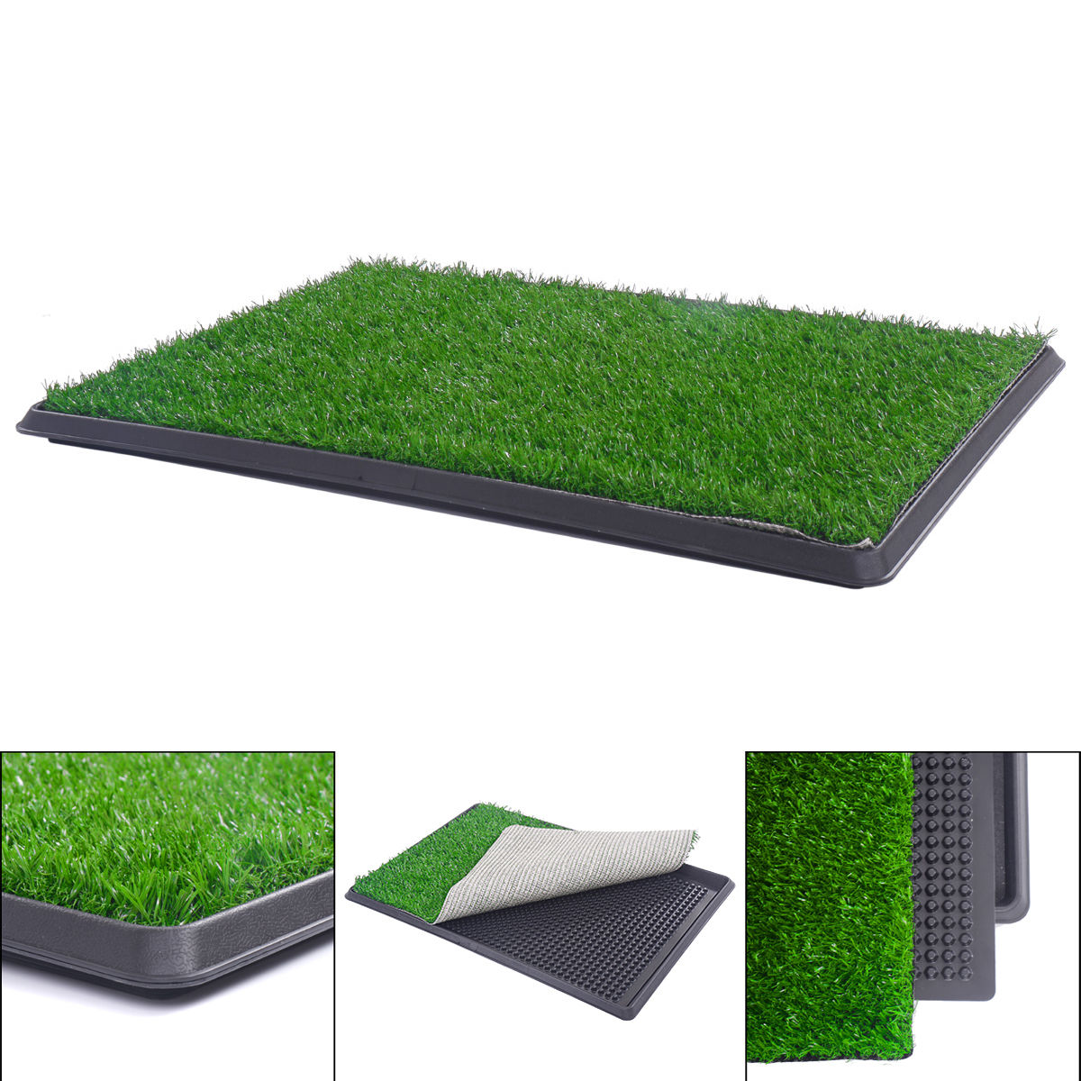 New Large Pet Potty Patch Pet Park Mat Dog Indoor Outdoor Home Training Pee Pads